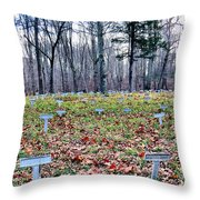 Grave Reminders Throw Pillow