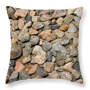 Gravel Stones Throw Pillow