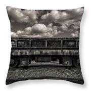 Gravel Train Throw Pillow
