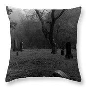Graveyard 4 Throw Pillow