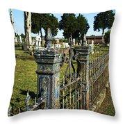 Graveyard Art Throw Pillow