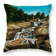 Graveyard Falls Blue Ridge Parkway Throw Pillow