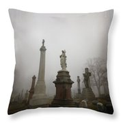 Graveyard Morning Throw Pillow