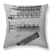 Graveyard Patent Throw Pillow