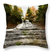 Laughing Whitefish Falls Throw Pillow