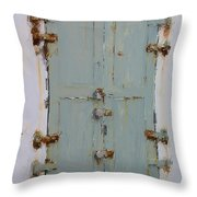 Gray And Rusted Throw Pillow