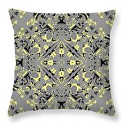 Gray And Yellow No. 1 Throw Pillow