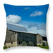 Gray Barn Throw Pillow