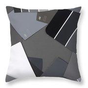Gray Card Checker O Meter Throw Pillow