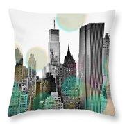 Gray City Beams Throw Pillow