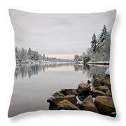 Gray Day In Lake Oswego Throw Pillow