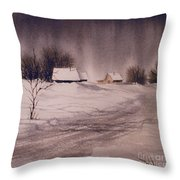 Gray Day Throw Pillow