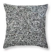 Gray Granite Throw Pillow