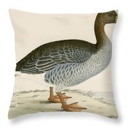 Gray Lag Goose Throw Pillow