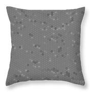 Gray Mosaic Throw Pillow