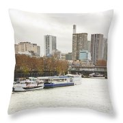 Gray Side Of Paris Throw Pillow