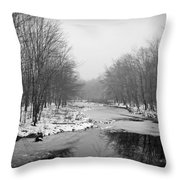 Gray Stream Throw Pillow