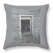 Gray Window Throw Pillow