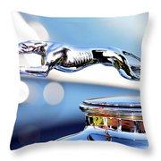 Grayhound Glamour Throw Pillow