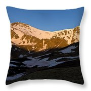 Grays Peak And Torreys Peak Panorama Throw Pillow