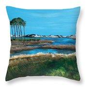 Grayton Beach State Park Throw Pillow by Racquel Morgan