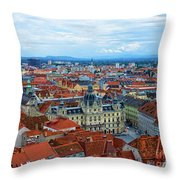 Graz Old Town Throw Pillow