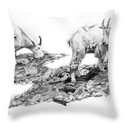 Grazing Throw Pillow by Aaron Spong