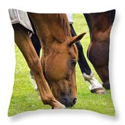 Grazing In Sync Throw Pillow