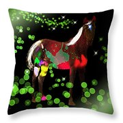Grazing In The Grass - Featured In Visions Of The Night Group Throw Pillow
