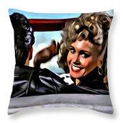 Grease Throw Pillow