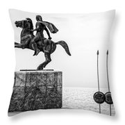 Great Alexander Greece Throw Pillow
