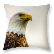 Great American Bald Eagle Homer Alaska Throw Pillow by Natasha Bishop