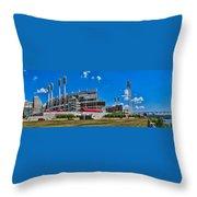Great American Ball Park Throw Pillow