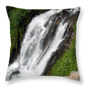 Great Angle Of Red Blanket Falls Throw Pillow