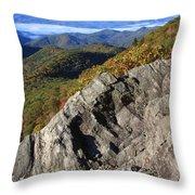 Great Balsam Mountains - Blue Ridge Parkway Throw Pillow