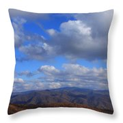 Great Balsam Mountains From Waterrock Knob Throw Pillow