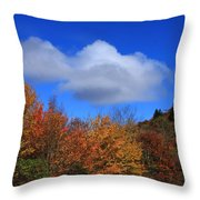 Great Balsam Mountains In The Fall Throw Pillow