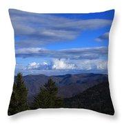 Great Balsam Mountains-north Carolina Throw Pillow