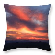 Great Balsam Mountains Sunset-blue Ridge Parkway Throw Pillow