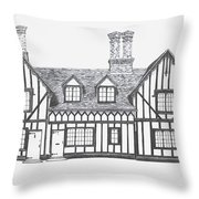 Great Bardfield St Johns Terrace Throw Pillow by Shirley Miller