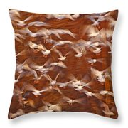 Great Black-backed Gulls Throw Pillow