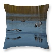 Great Blue Dance Throw Pillow