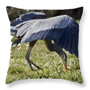 Great Blue Dining Out Throw Pillow