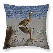 Great Blue Heron 1 Throw Pillow