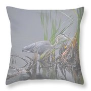 Great Blue Heron 4 Throw Pillow