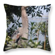Great Blue Heron II Throw Pillow