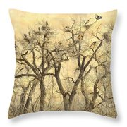 Great Blue Herons Colonies Fine Art Throw Pillow