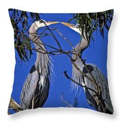 Great Blue Herons Throw Pillow