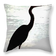Great Blue Herons Nightside Throw Pillow