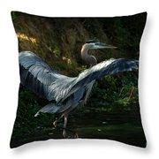 Great Blue Herron Throw Pillow